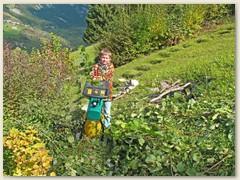 44 Oktober - Schulferienzeit - immer ein Erlebnis wenn Florian bei der Herbstarbeit mithilft