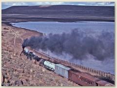 14 Der Schienenstrang führt entlang einem See