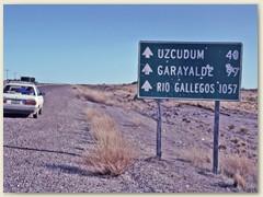 32 Das nächste Ziel, 1057 Kilometer weiter südlich. Das sind für uns zwei Tagesreisen mit dem Mietwagen