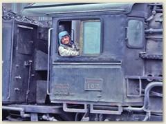 03 Ein stolzer Eisenbähnler/Lokführer freut sich über unseren Besuch