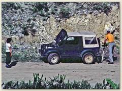 02 Wir waren 5 Tage mit dem Miet-Jeep unterwegs und konnten uns 1993 frei in den Zuckerrohrfeldern bewegen