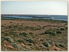 11 Die Halbinsel Valdés in Sichtweite. Sie ist durch einen schmalen Isthmus zwischen dem Golfo San José im Norden und dem Golfo Nuevo im Süden mit dem Festland verbunden