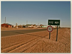 18 Das Dorf Fitz Roy unterwegs ist nicht zu verwechseln mit dem gleichnamigen Berg an der Grenze zu Chile