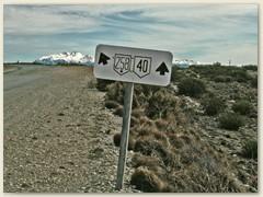 25 Auf der bekanntgen Route 40 jetzt Nordwärts nach El Chaltén