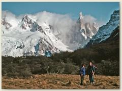 31 Der Cerro Torre 3128 m, der Bruderberg vom Fitz Roy. Beide galten lange Zeit als unbesteigbar