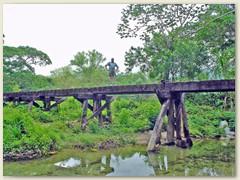 18 Auf einer alten Eisenbahnbrücke , die Suche nach weiteren Eisenbahnen geht weiter