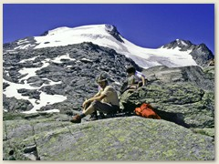 13 Auf der Fuorcla Surlej 2755m mit Piz Corvatsch