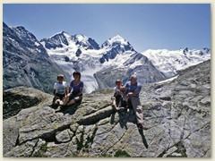 14 Auf der Fuorcla Surlej 2755m mit der Bergninagruppe