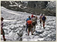 24 Vadret Pers, Persgletscher, Ausgangspunkt sind die Firnfelder des Piz Palü. Die Zunge des Pers erreichte bis 2014 den Morteratschgletscher