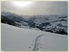 06 Schneeschuhtour auf die Alp Runca mit Blick ins Lugnez