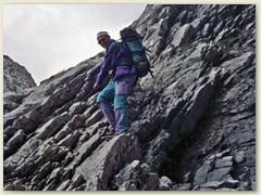 13_Kurt im Abstieg in der Südwand der Drusenfluh