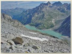 27_Der Lägh da Albigna liegt eingebettet zwischen den Bergketten des Val d'Albigna, einem Seitental des Bergell
