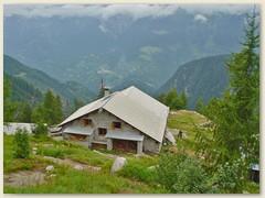 55_Die Sasc Furä-Hütte ist eine Berghütte des Schweizer Alpen-Clubs SAC im Bergell.