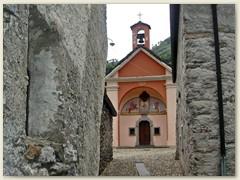 01_Start in Maggia 339 im gleichnamigen Tal. Wanderroute: Maggia - Ovia - Aiarlo - Costa di Mezzo - Alpe Nimi