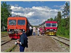 40_Im Juni 2004 kreuzen sich in Sorsele täglich ein Zugspaar auf halber Strecke Gällivare - Östersund