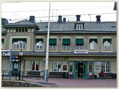 41_Bahnhof der Inlandbahn Östersund. Ankunft um 21.30 Uhr