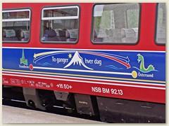 42_Regiozug der NSB von Östersund (Schweden) nach Trondheim (Norwegen)