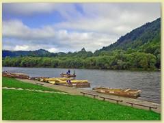 22_Der Fluss Dunajec im Pieniny-Nationalpark entspringt in den West-Tatra und mündet in die Weichsel in den Westkarpaten