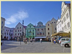 46_Hauptplatz in Cesky Krumlov (Krummau) in der Tschechischen Republik