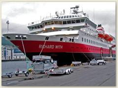 18_Linien-Passagierschiff der Reederei Hurtigruten, unser Hotel für zwei Übernachtungen