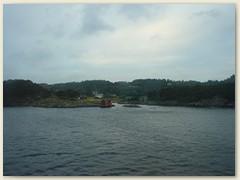 19_Bergen Adee, wir gleiten aus dem Bergenfjord
