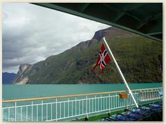 20_Die Richard With ist ein traditionelles norwegisches Postschiff