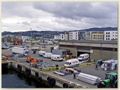 25_Trondheim, -  wir ankern am Hurtigruten-Kai