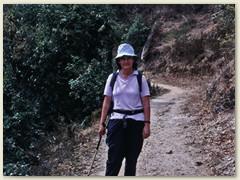 27 Lydia auf dem Trail