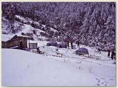 57 Unser Biwakplatz,  2 Nächte im Schnee