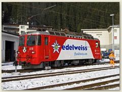 11_Die Ge 4-4 II 618 mit dem Namen Bergün und der Werbung Edelweiss