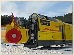14_Die Schneefräse RhB Xrot mt Nr. 95401, abgestellt in Arosa