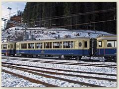 19_Drei Wagen des Alpne Classic Pullman Express der RhB
