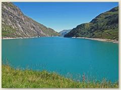 04_Der See wurde 1957 aufgestaut, dadurch versank in ihm das kleine Dorf Zervreila