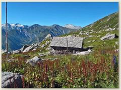 39_Auf der Alp Scaradra steht die unbewartete Schützhütte