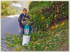 48_In den Herbst Schulferien kommt wiederum Florian zum Helfen