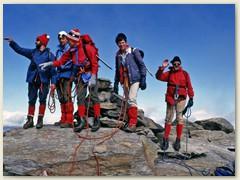16_Ein Steinmann auf dem Gipfel des Pizzo Campo Tencia 3071 m