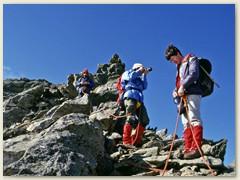 21_Bereit für den Abstieg vom Gipfel des Pizzo Campo Tencia