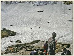 25_Am Ende des Ghiacciaio Grande ein Blick zurück zum Gipfel