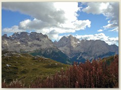 06_ Über den Monte Spinale Richtung Rifugio Tuckett mit der Cima Brenta