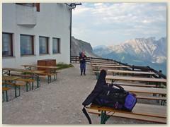 09_Morgen früh, bereit zur Bergtour über einen der schönsten Klettersteige in der Rosengartengruppe