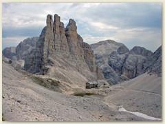 26_Die Gartlhütte 2621 m direkt unter den berühmten Vajolettürmen