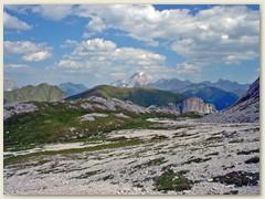 84_Beim Passo Ciaregole und im Hintergrund der Gletscher der Marmolata