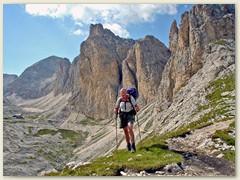 86_Vom Passo Dona zum Rif. Antermoia, unser Tagesziel