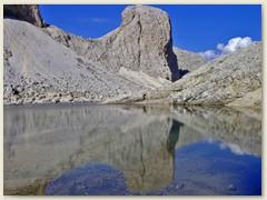 97_Lago d'Antermoia, ein Karstsee