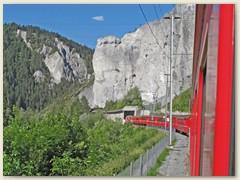 34r ... mit der - kleinen Roten - durch das Little Grand Canyon oder Ruinaulta