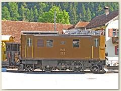 36r RhB Lok 222 von der ehem. Aktiengesellschaft Brown Boveri Baden und Schweizerischen Lokomotiv- und Maschinenfabrik Winterthur