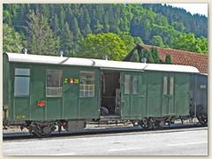 37r Alter Gepäck- und Bahnpostwagen der RhB
