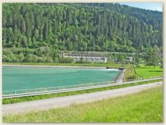 40r Stausee und Kraftwerkzentrale Tavanasa. Möglichkeit hinter die Kulisse der hydraulischen Stromproduktion zu blicken