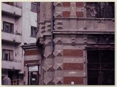 32 Einschusslöcher der Revolution 1989 gegen Ceaușescu
