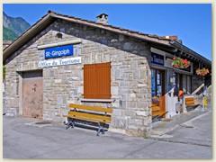 01 Start der Bergwanderung bei der Bahnstation St-Gingolph